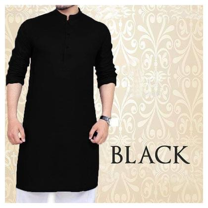 Black Kurta With Pajama For men