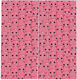 Countless Piglets 170X200CM Window Curtains for Home Bedroom Decoration