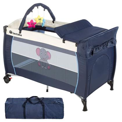 Portable Baby Playpen Child Baby Travel Cot,Travel Bed for Children, Bedside Cot, Folding Bassinet,P614-BEE,126/66/82cm