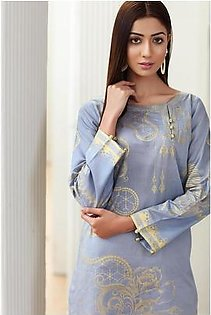So Kamal Women Summer Collection Grey 1 PCS Stitched- Paste Printed Kurti Int:L DPL 19-265