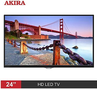AKIRA MG102 24 Inch HD LED TV with Built-in Soundbar & DC Battery Compatible ...
