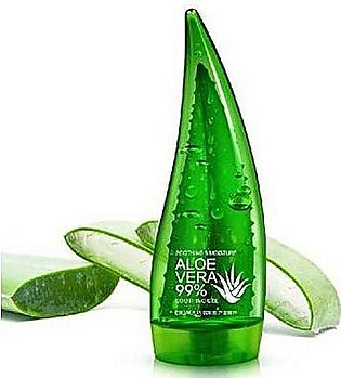 Aloe vera soothing gel skin care face cleanser