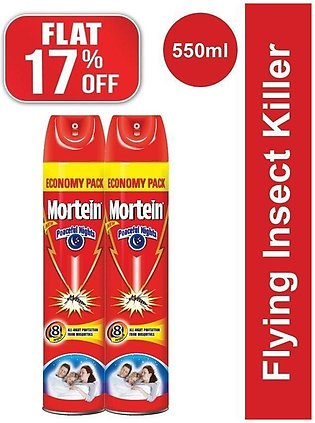Pack of 2 Mortein Peaceful Nights Spray 550ml