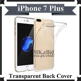 iPhone 7 Plus Back Cover Transparent Premium Quality Soft Crystal Clear Case Fo…