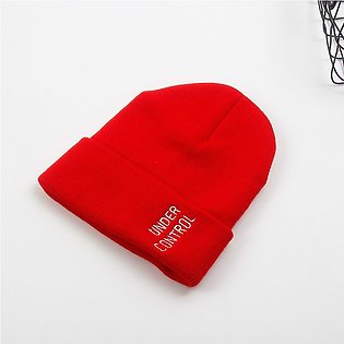 USPOP winter cold hats women letter embroidery knitted beanies men casual lette…