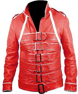 Leatherly Concert Red Freddie Motorcycle Leather Jacket