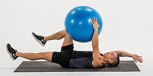 Yoga Anti-Burst Fitness Exercise Gym Ball with Pump
