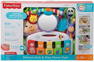 Fisher Price Deluxe Kick & Play Piano Gym Age 0 months and more Item Size 8 x...