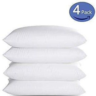 Polyester Ball Fiber Pillows - Pack of 4 White Polyester Pillows