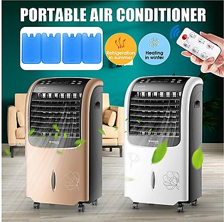 Portable Air Conditioner Water Cooling Cooler Fan Humidification Heater Cold ...