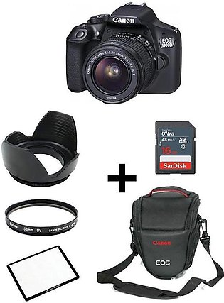 1 Year Warranty - Pack Of 6-EOS 1300D With 18-55mm,16GB,V Bag,Screen Glass,Le...