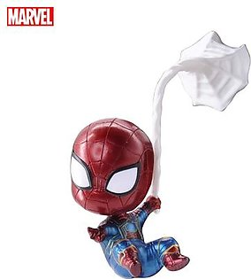 Marvel Avengers Endgame Spider-Man Action Figure Collectible, Car Decoration Bobble Head Doll, 4 Inches