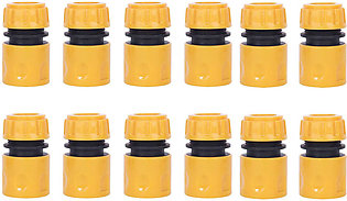 12 Pack Plastic Garden Hose End Connector for 1/2 Inch Hose Pipe Quick Connector
