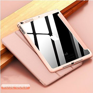 For iPad Air 2 Air 1 mini 1 2 3 4 5 Case PC Material Transparent back Trifold S…