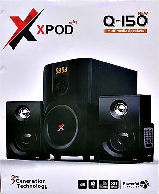 XPOD - Q150 New - 2.1 Multimedia Channel Speaker
