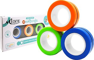 Pack of 3 - FinGears Magnetic Rings Anti-Stress FinGears Magnetic Rings Random …