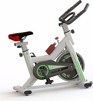 New Spin Exercise Bike Fitness Commercial Home Workout Gym Equipment Black