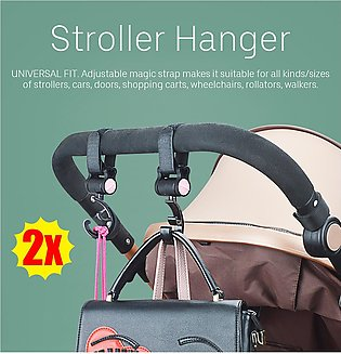 2pcs Baby Stroller Hanger Bag Hooks Pram Cart Hook Accessories 360 Rotate 30Kg
