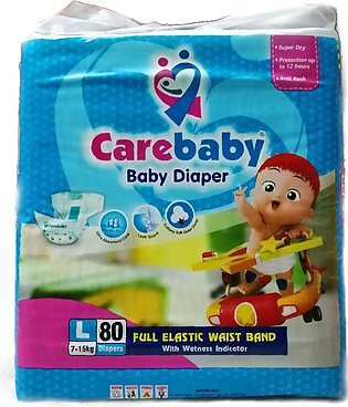 Care Baby Diapers Large Size - Pack of 80 Pcs Pack