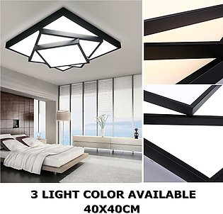 40X40CM Square Dimmable Lamp LED Ceiling Lights Chandeliers Living Room Fixture