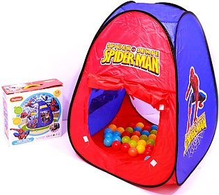 Spider Man Tent Play House For Kids With 50 Soft Balls