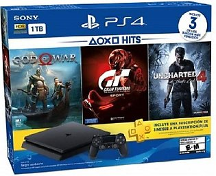 Ps4 Hits Bundle: Playstation 4 1Tb + 3 Hit Games + 3 Months Playstation Plus Me…