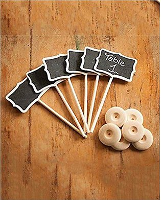 chalkboard 4 pcs black board notice and message wooden board with stand