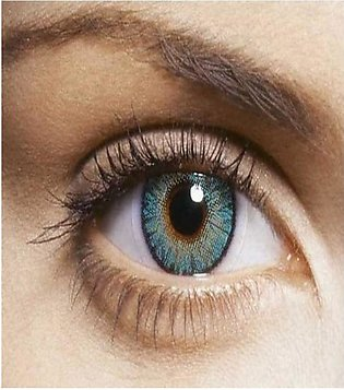 Freshlook Turquoise Plain Contact Lenses Pair With Kit
