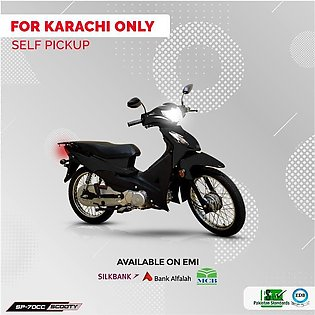 Super Power Scooty 70cc Black (Karachi Only) 7-10 working days