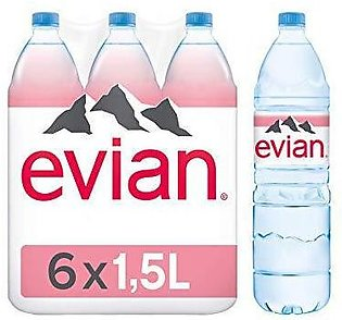 PACK OF 6 : EVIAN MINERAL WATER 1.5LTR