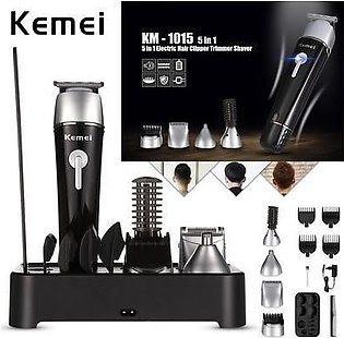 Kemei km 1015 Professional Hair Trimmer 5 in 1 Electric Washable Nose Ear Bod...