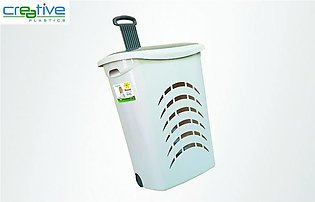Plastic Laundry Basket With Wheels