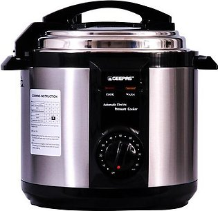 Geepas 6 Litre Electric Pressure Cooker GPC-307-6L Silver (2 Year Warranty)