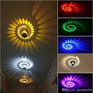 Pack of Two Ceiling Spiral Light 3W RGB LED with Remote