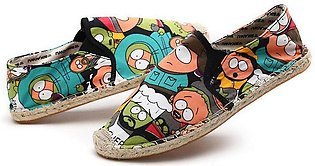 UD Women Casual canvas Shoes cartoon Girl Fisherman Flats driving shoes