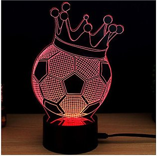 Colorful Touch Switch Table Light 3 D Acrylic LED Night for Football Fan - co...