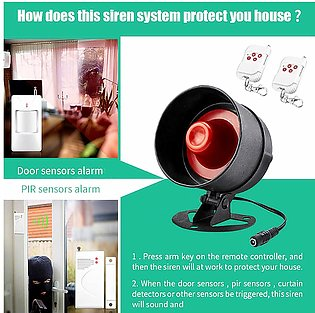 【To Global】Home Security Wireless Remote Control Alarm Siren Speaker Loudly S...