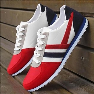 Fashion Men's Lace Up Sports Loafers Casual Sneakers Flat Canvas Shoes