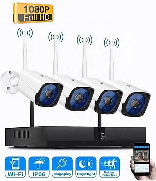 Canverx P2P Wifi NVR 4Ch 2MP Wireless Security Camera System