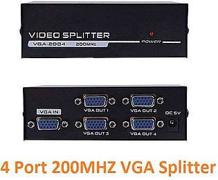 VGA SPLITTER 4 PORT 200 MHZ