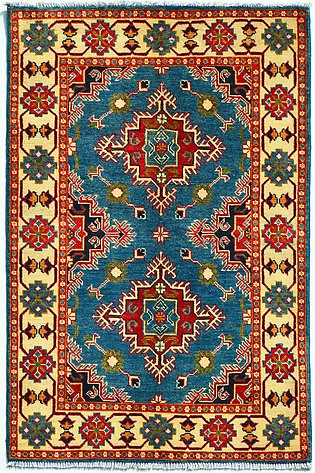 3 x 5 ft Area Rug Kazak hand-knotted rug & carpets with Wool on Cotton Base