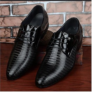New Fashion Men Business Leather Shoes Casual Pointed Toe Lace-Up Male Suit S...