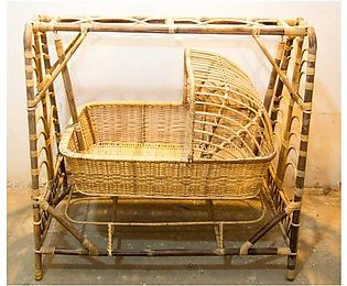 Cane Baby Swing Bed - Baby Crib Bed - Wood Baby Bed