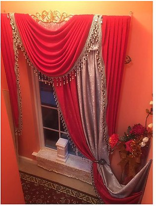 Fancy Cotton Satin Curtain For Home/Office 04