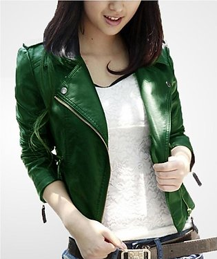 Green Leather Jacket For Women