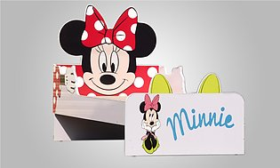 Girls Single Bed Minnie Mouse Shape Kids New Style Bedroom Furniture