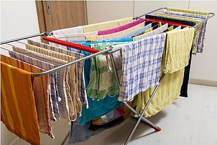 Folding Wet Cloth Dryer Stand Rust Proof