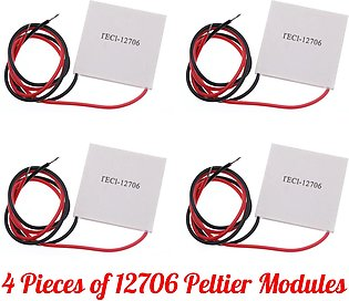 Pack of 4 TEC1 - 12706 Peltier Modules For Heating And Cooling Purpose