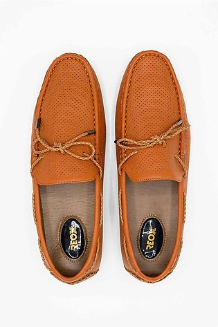Reefland Brown Synthetic Leather Casual Loafers for Men-METHEW 1767