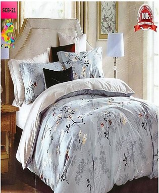 New Cotton Softy Foam Bedsheets With 2 Pillow Covers Scb-21 (R K)